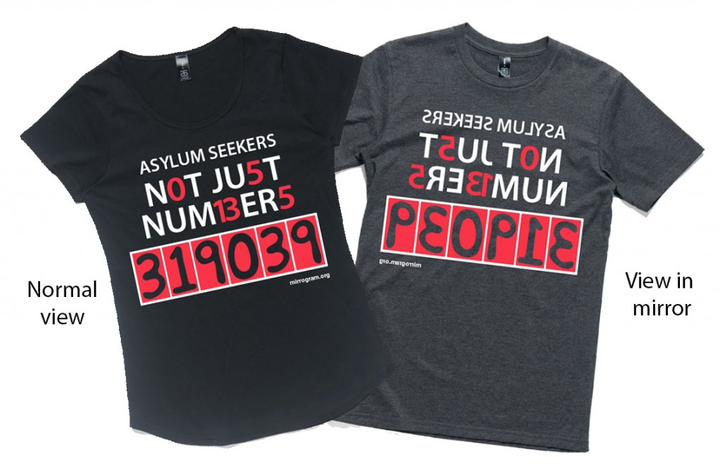 Asylum seeker tees male and female